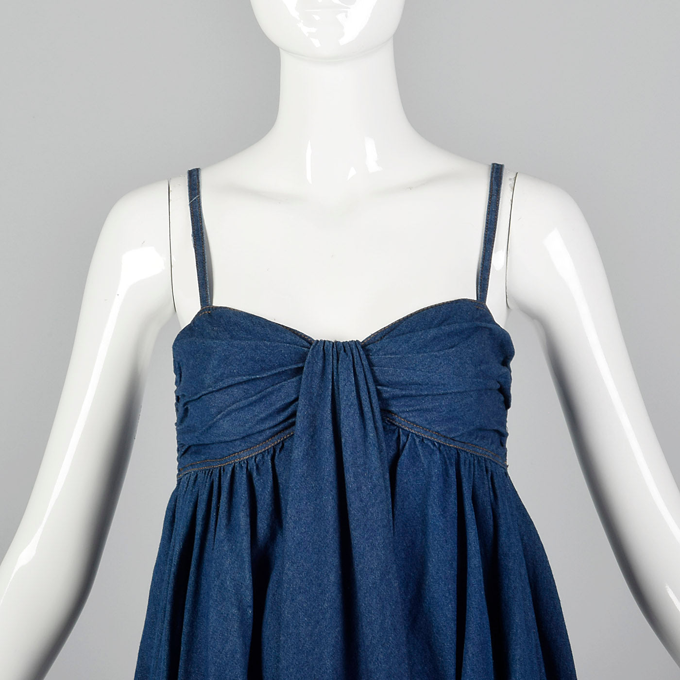 1990s DKNY Denim Babydoll Mini Dress