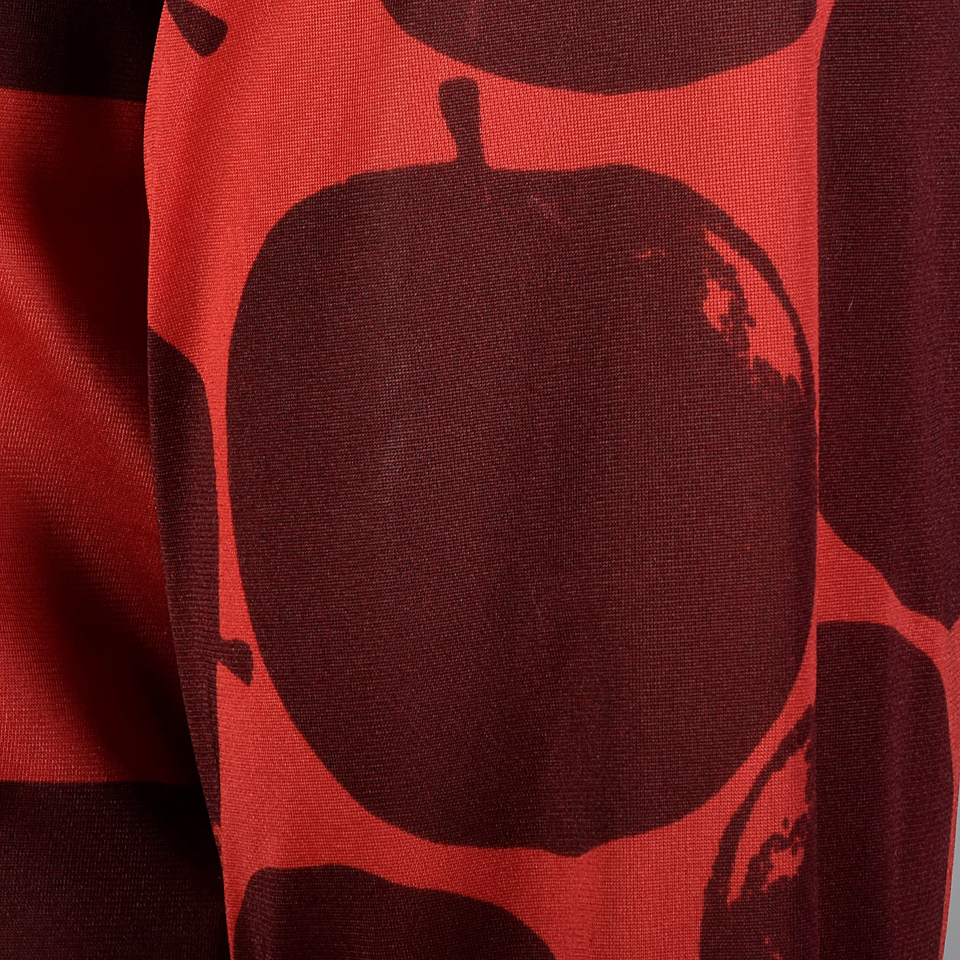 2000s Comme des Garcons Red Silky Apple and Check Print Shirt