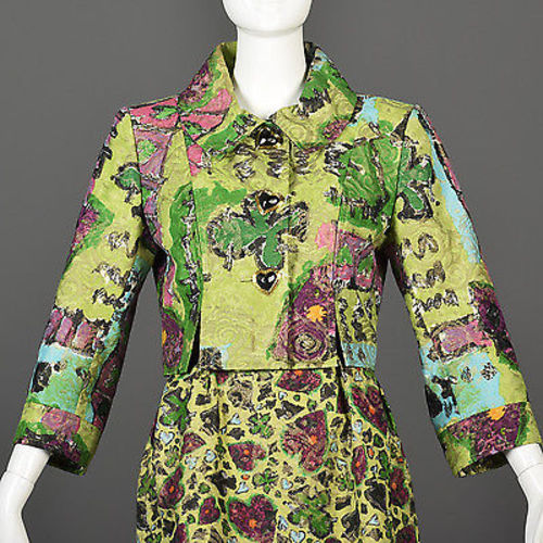 Cristian Lacroix Deck of Hearts Designer Skirt Suit
