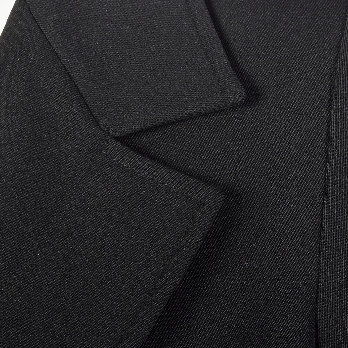 1970s Yves Saint Laurent Rive Gauche Black Twill Blazer