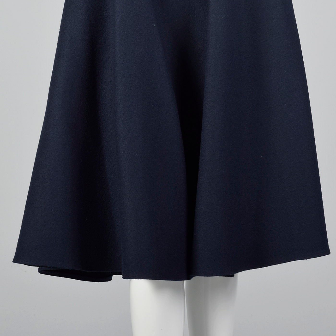 1980s Louis Feraud Blue Skirt with Matching Open Jacket
