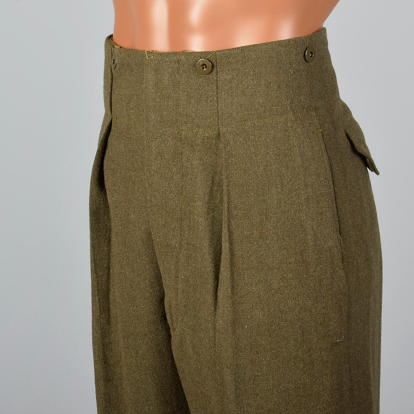 1950s Green Military Pant