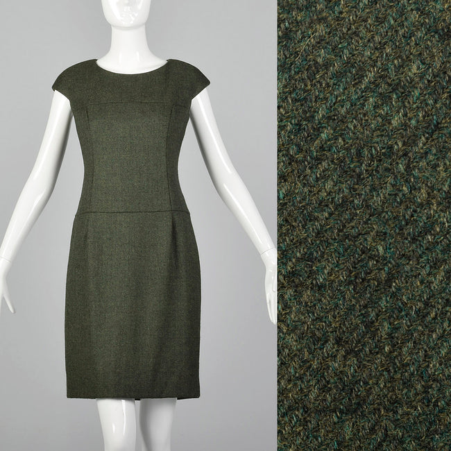 Classic Green Wool Dress by Norman Ambrose
