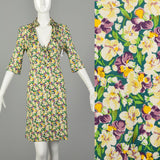 Medium Diane Von Furstenberg Violet Print Dress Floral Silk Jersey