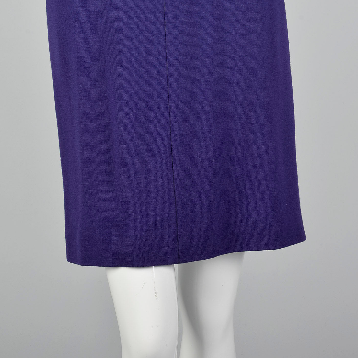 1980s Geoffrey Beene Purple Knit Dress