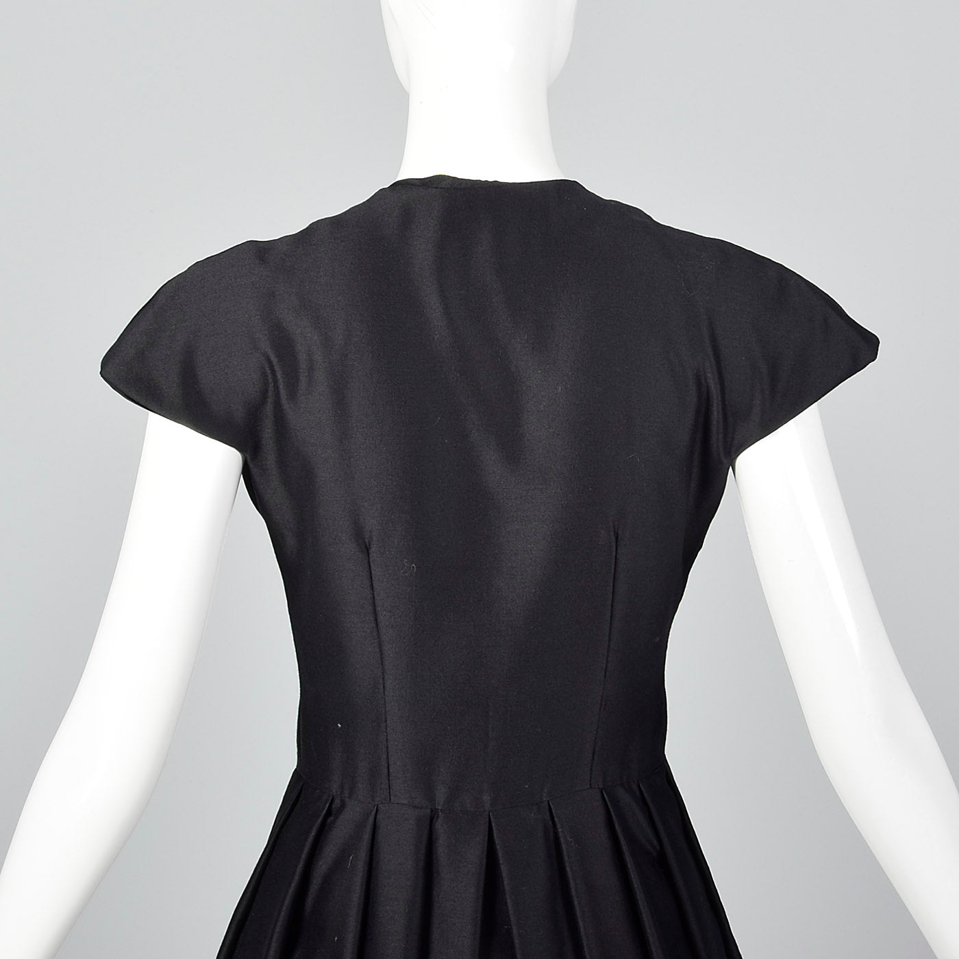1960s Suzy Perette Black Dress with Pleated Skirt
