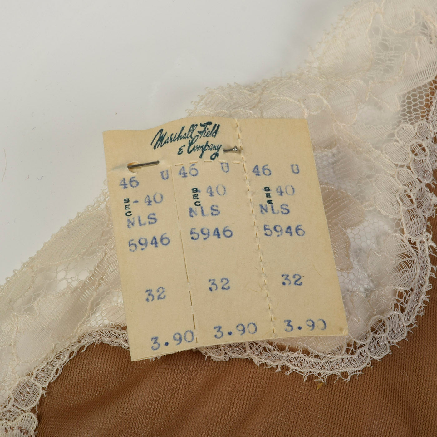 1950s Deadstock Full Slip with Lace Details