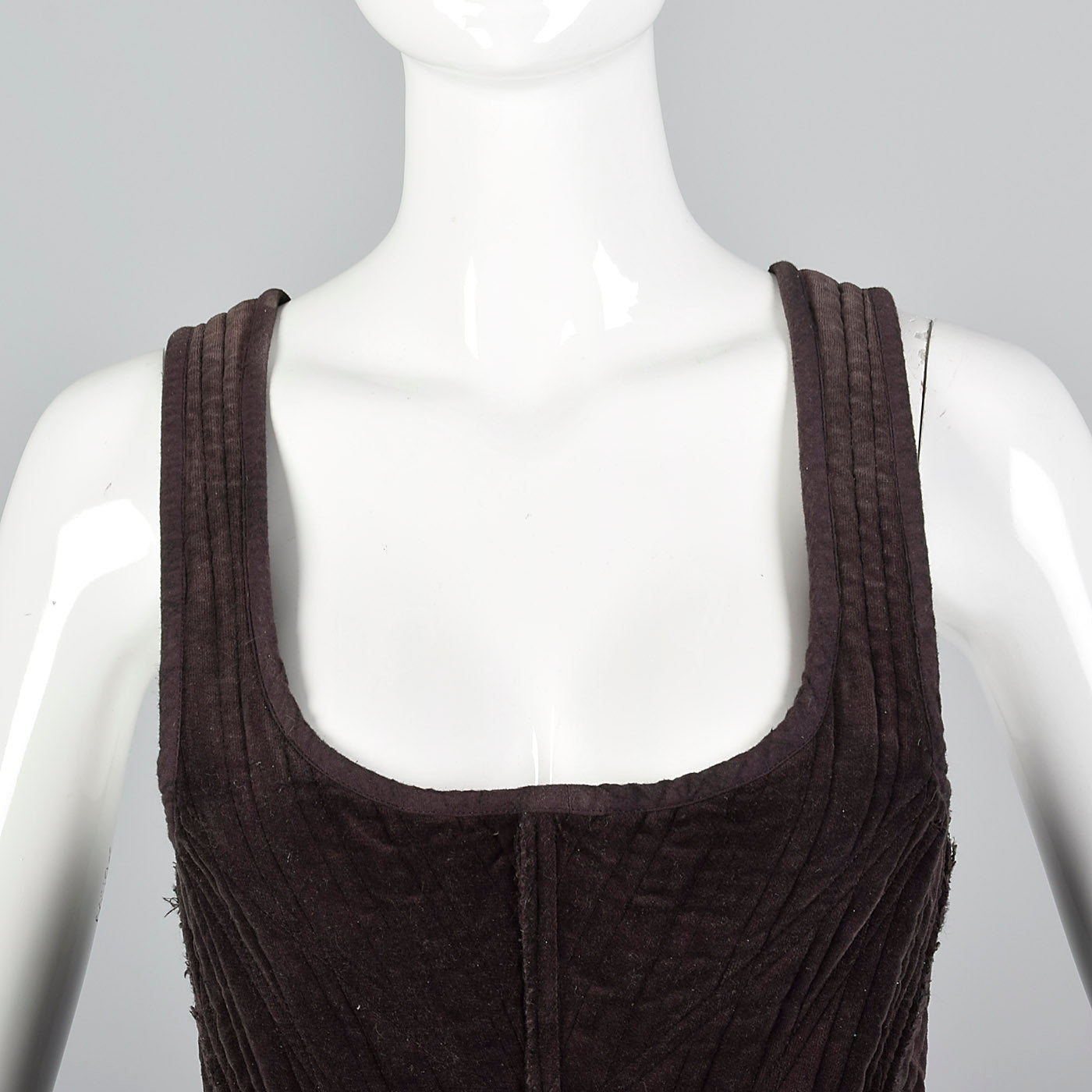 2000s Gary Graham Brown Corset Top