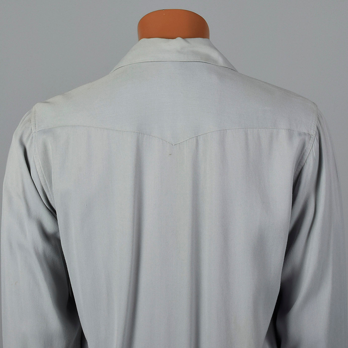 Late 1940s-Early 1950s Mens Gray Gabardine Shirt Jacket