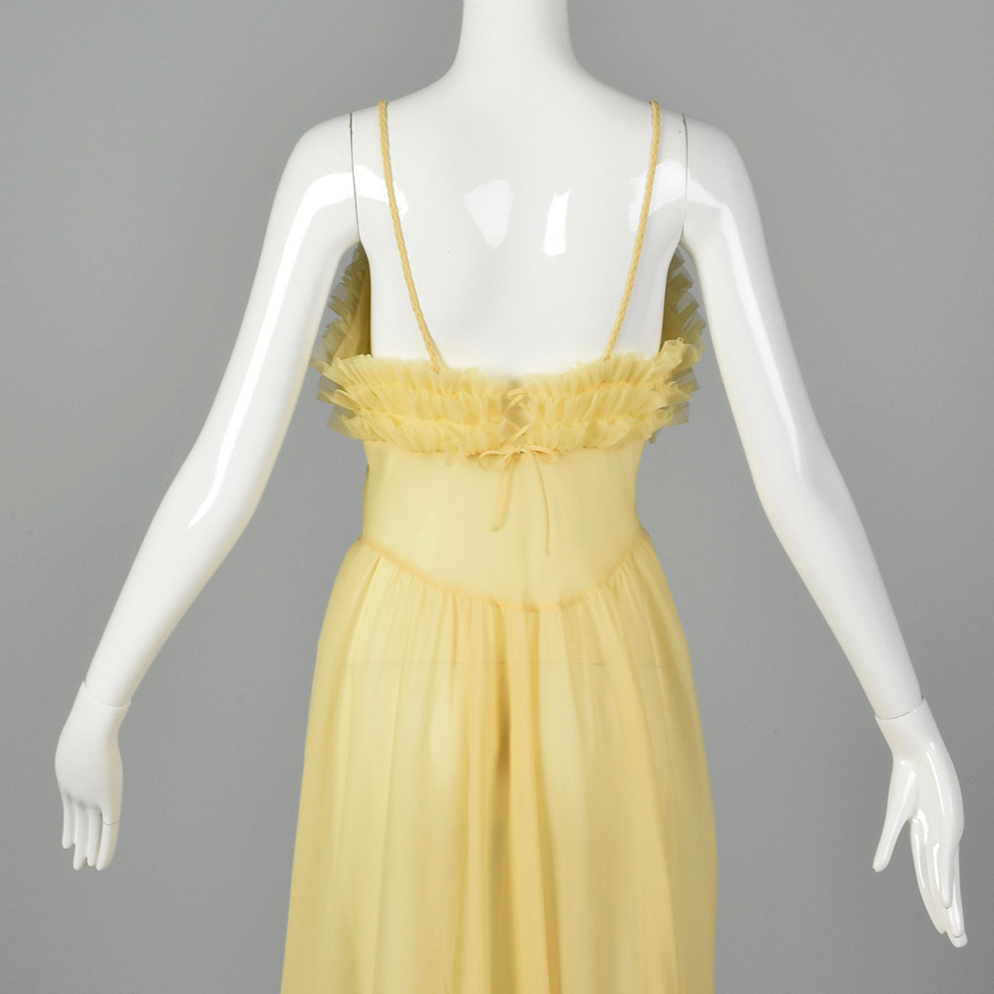 b3f994b6dd 1950s Yellow Nightgown with Ruffled Bust – Style   Salvage