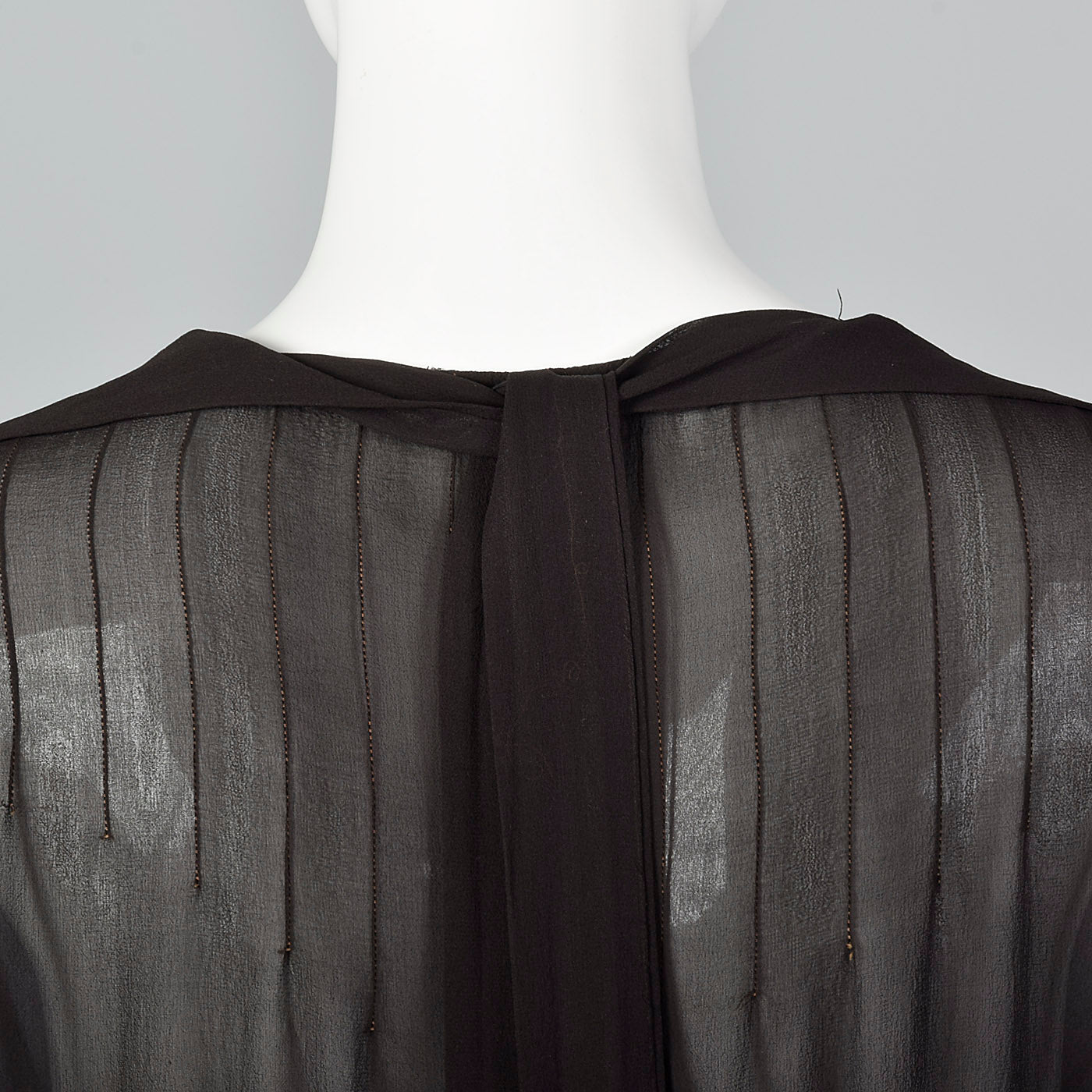 1920s Sheer Black Dress with Layered Skirt