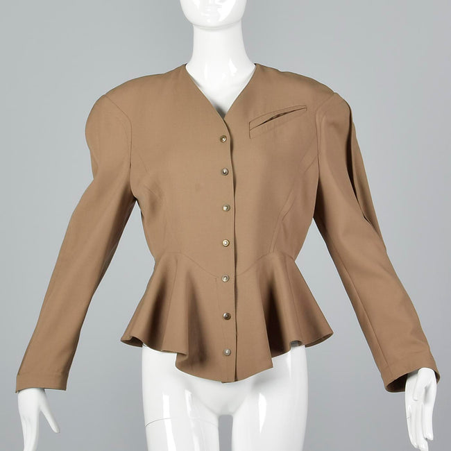 XS Thierry Mugler  1980s Tan Jacket