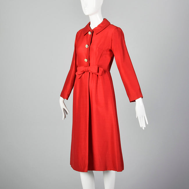 1950s Red Coat Dress