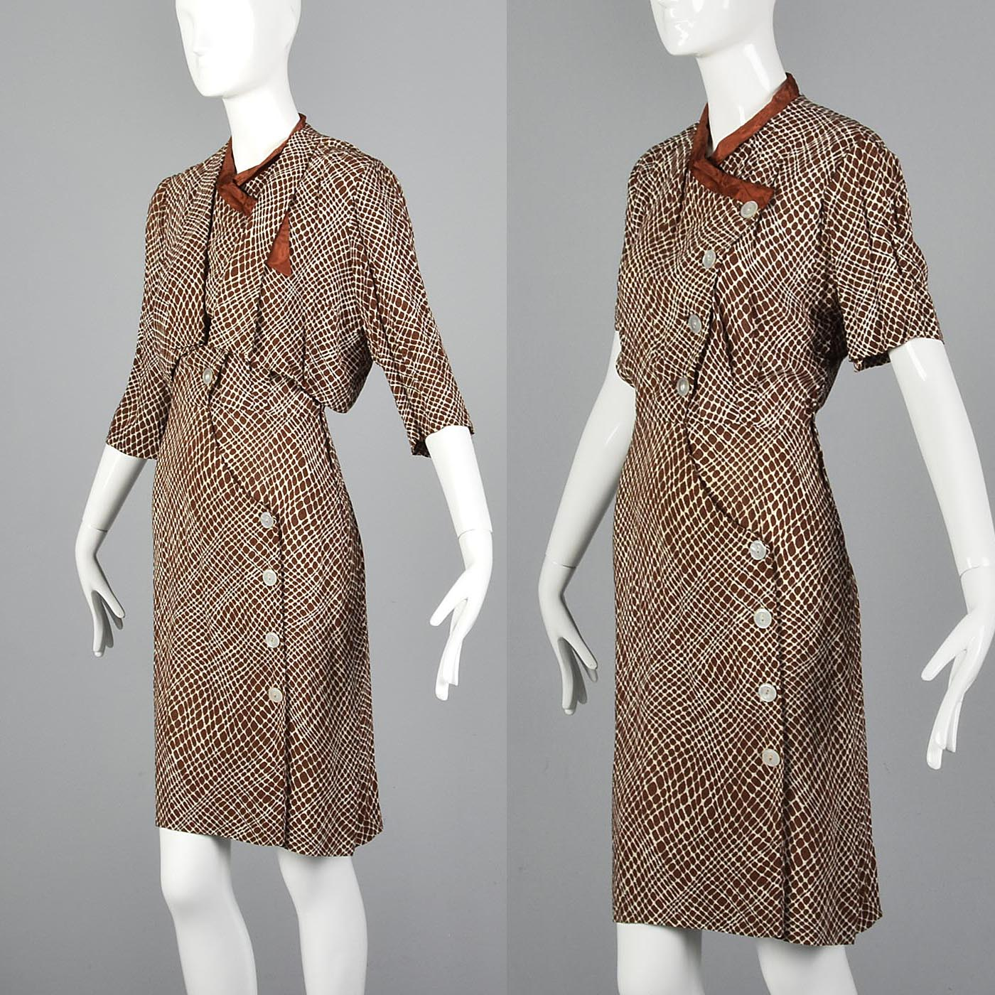 1930s Asymmetric Dress and Jacket Set