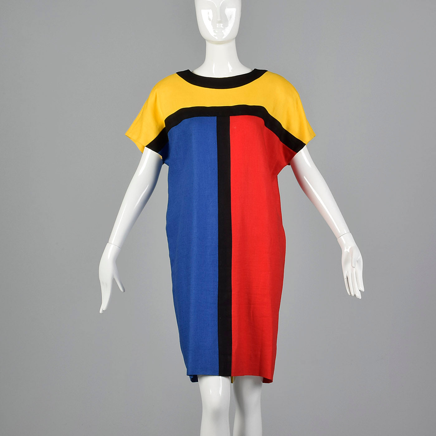 1980s Cocoon Dress in Mondrian Style