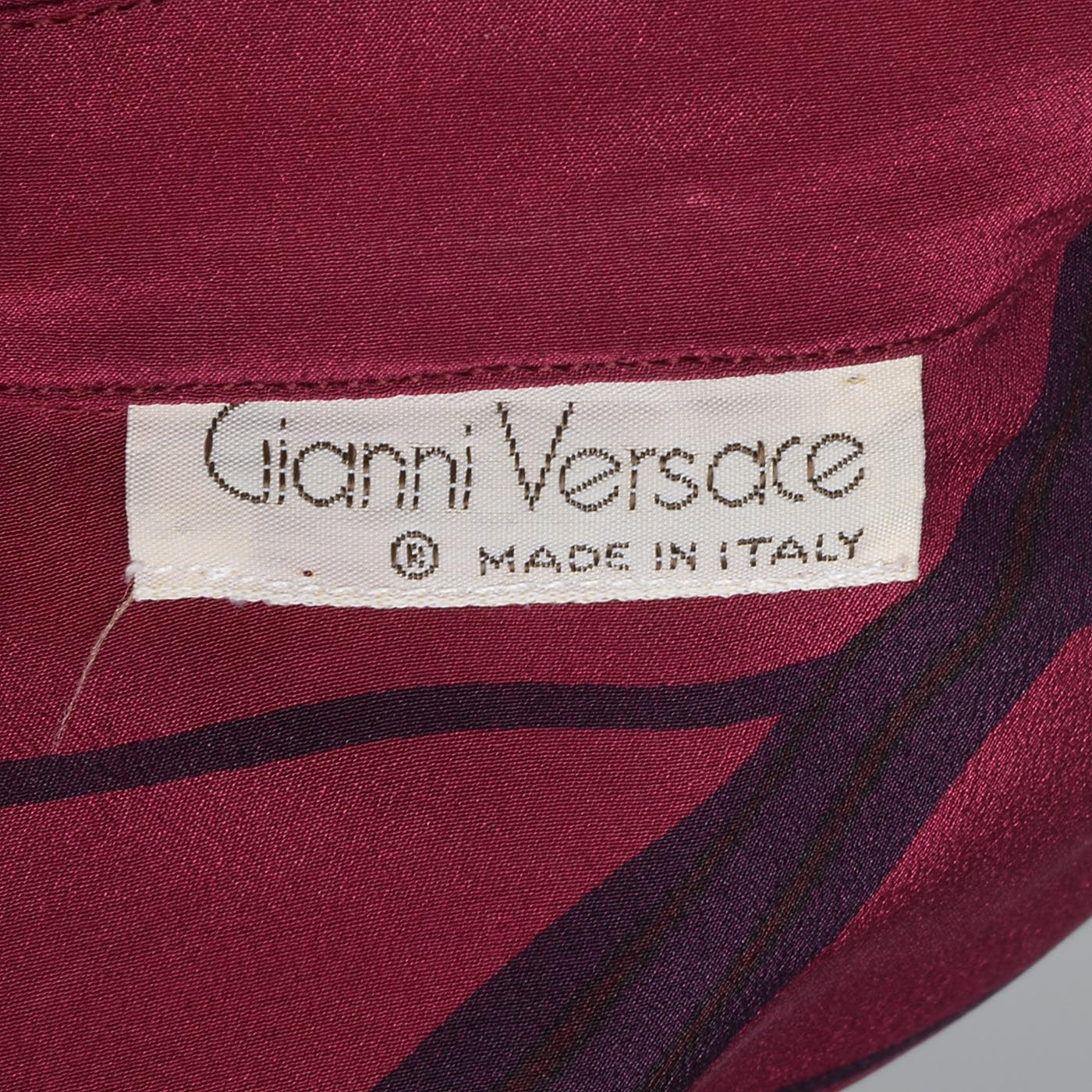 1980s Gianni Versace Purple Silk Blouse