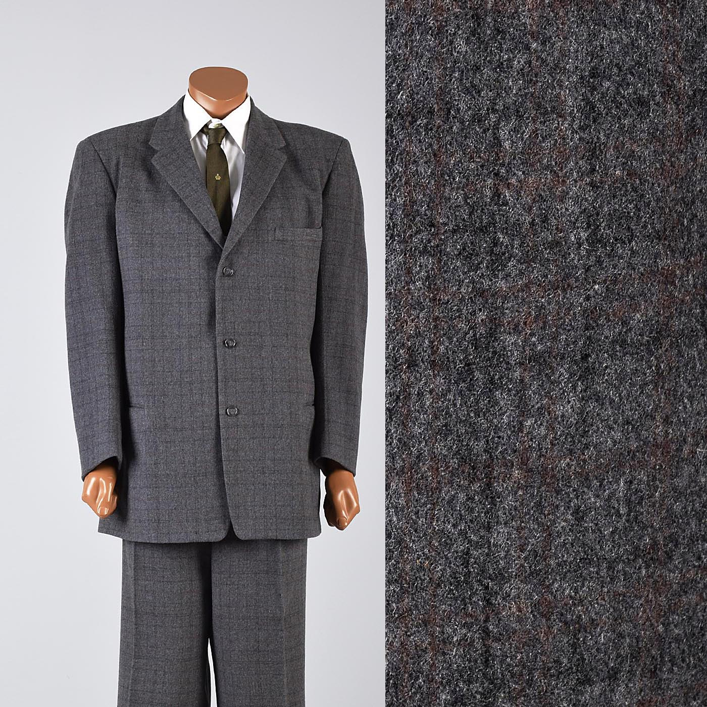 1950s Men's Winter Suit in Very Heavy Weight Wool