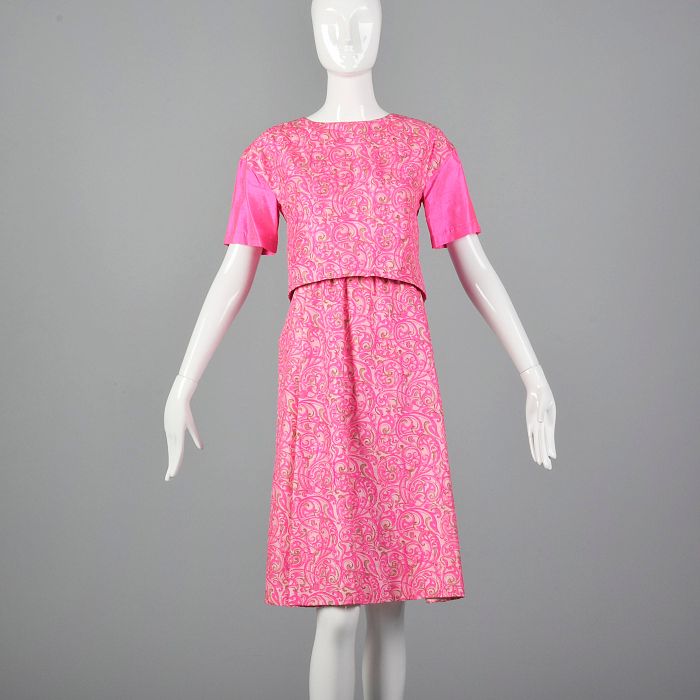 1960s Hot Pink Dress Set