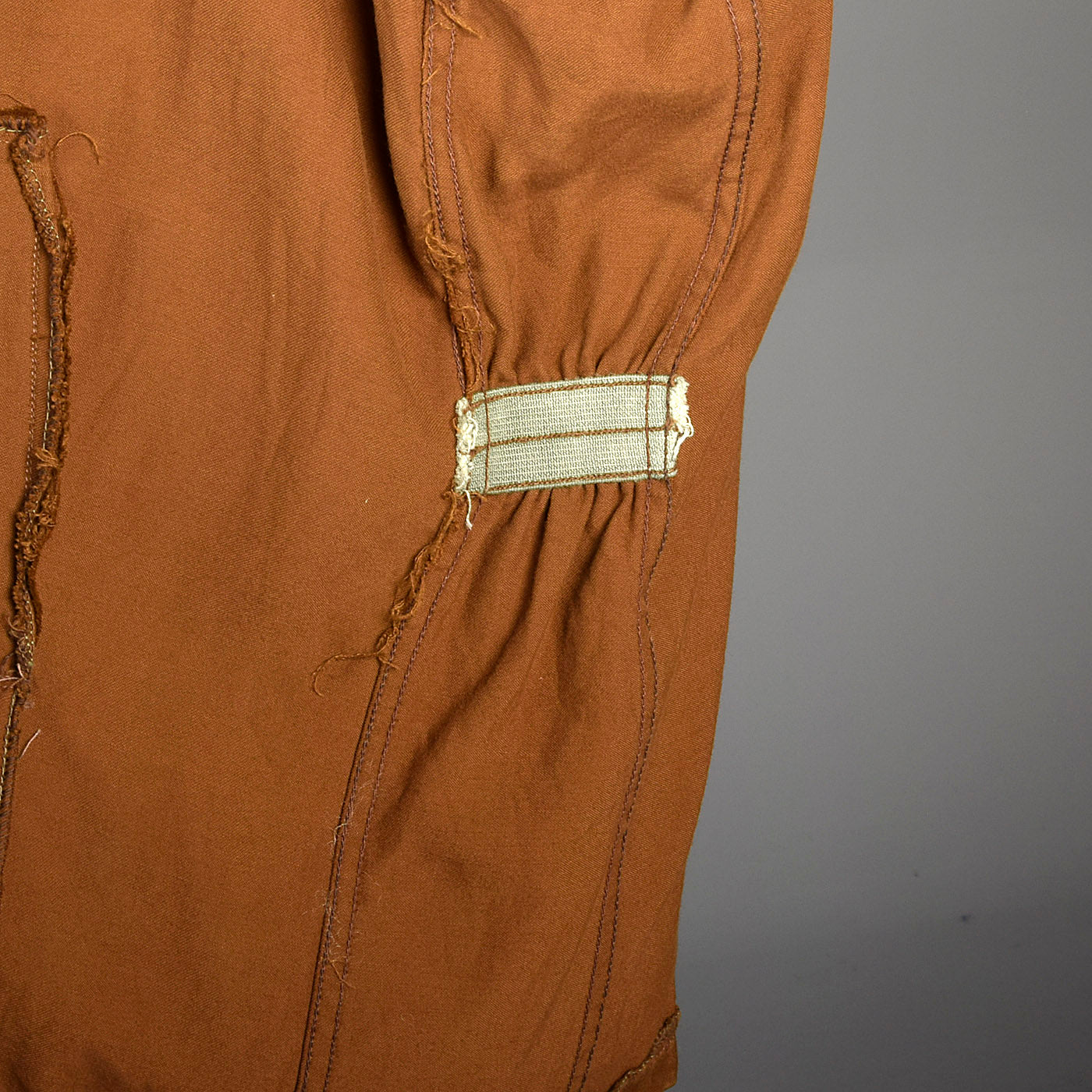 1950s Mens Gabardine Jacket with Metal Zip Front