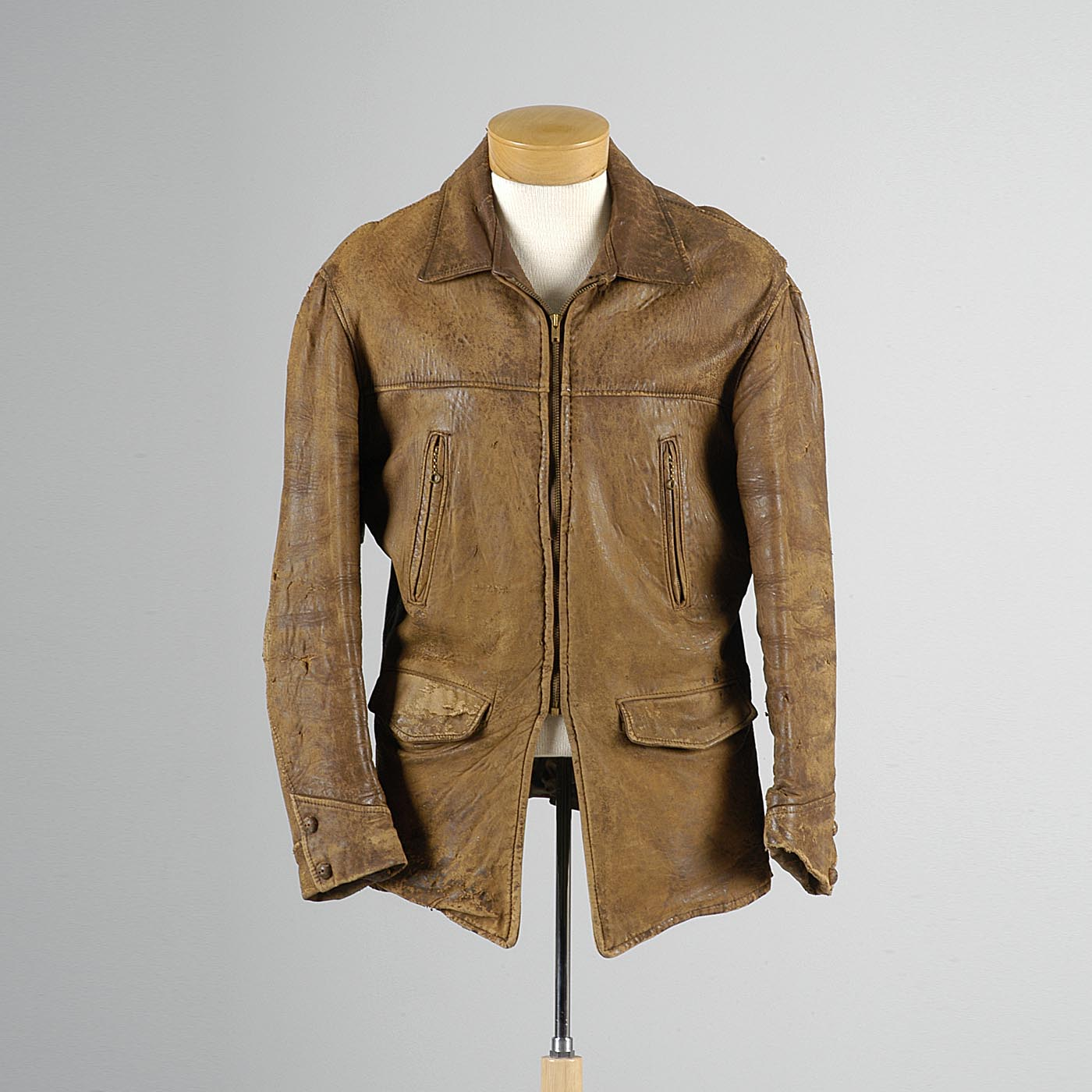 1940s Men's Kit Karson Indian Scout Leather Motorcycle Jacket