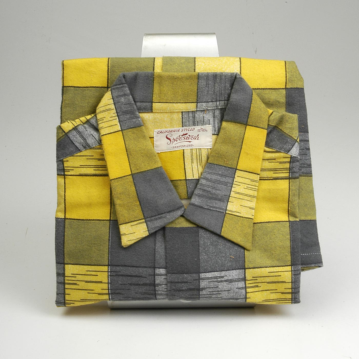Deadstock 1950s Men's Yellow Flannel Shirt