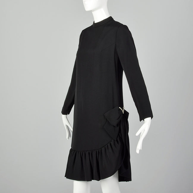 XS Roger Milot for Fred Perlberg 1960s Black Dress