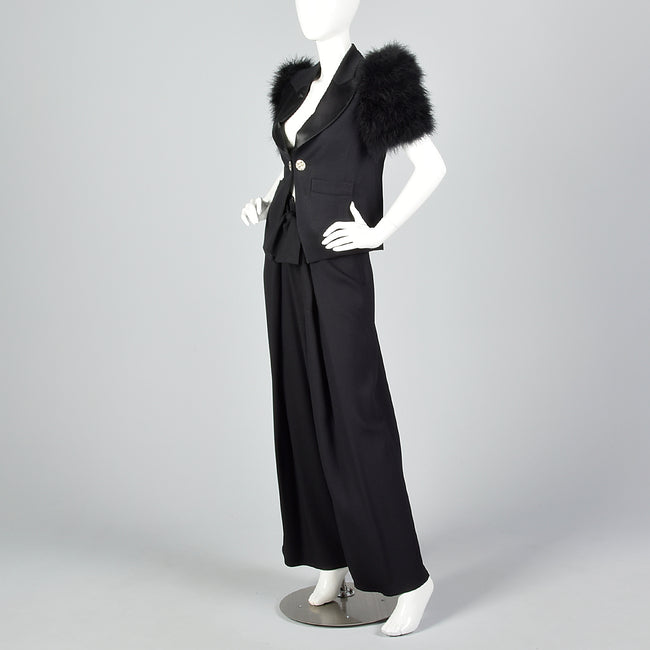 Spring/Summer 1995 Sonia Rykiel Marabou Feather Suit