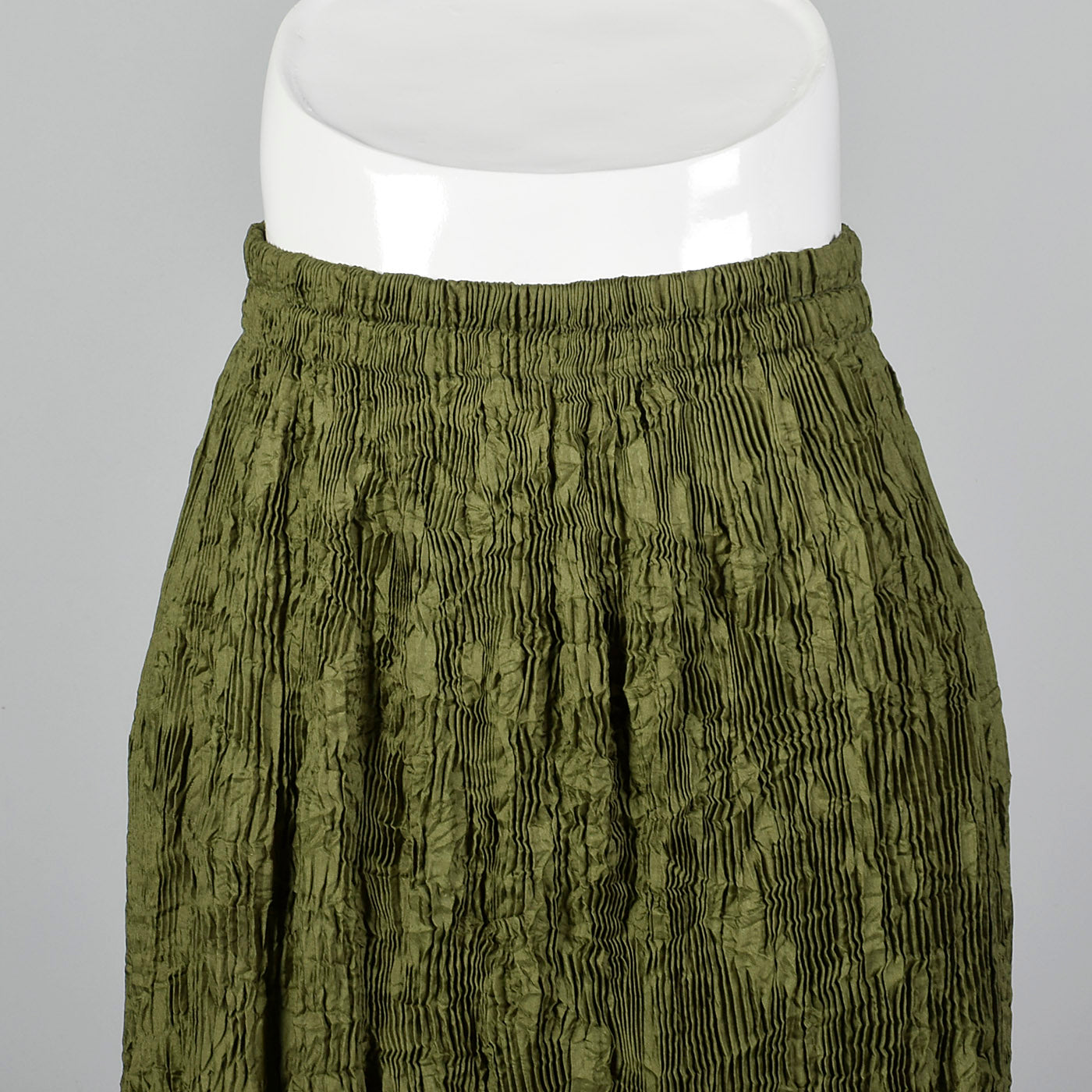 2000s Issey Miyake Pleated Skirt with Bubble Hem and Fleece Applique