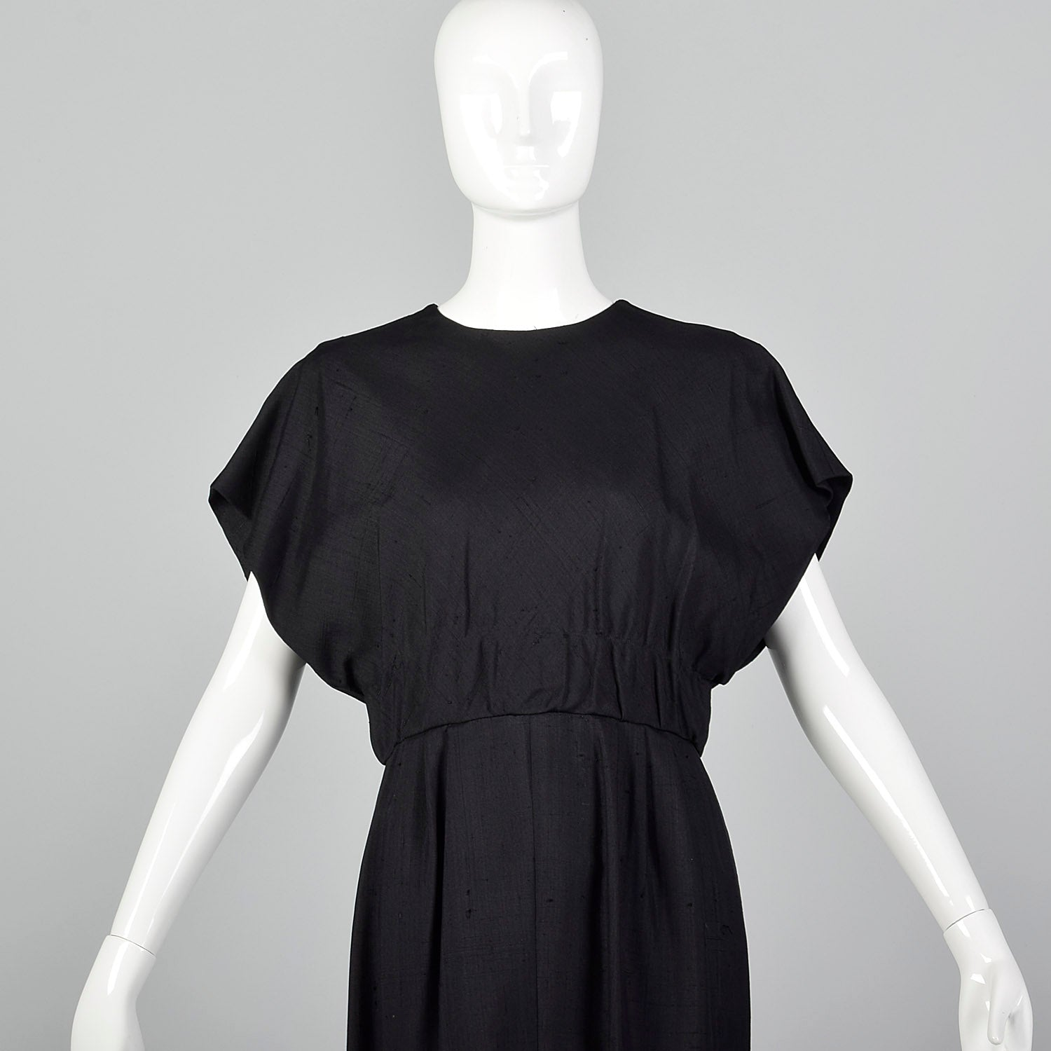 1960s Little Black Dress with Large Back Buttons