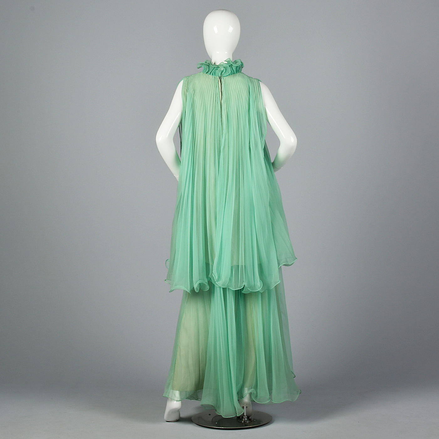 1970s Mint Green Palazzo Pants Set