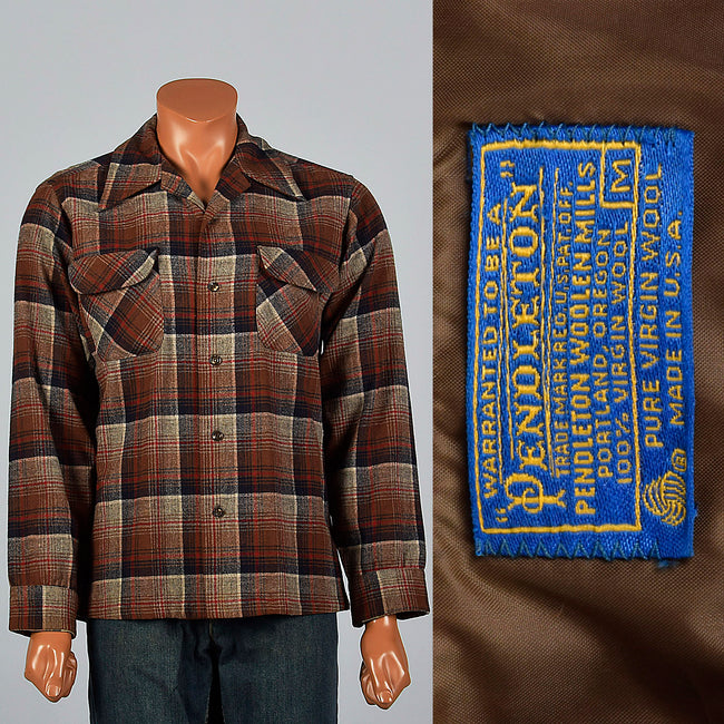 1960s Pendleton Wool Long Sleeve Shirt