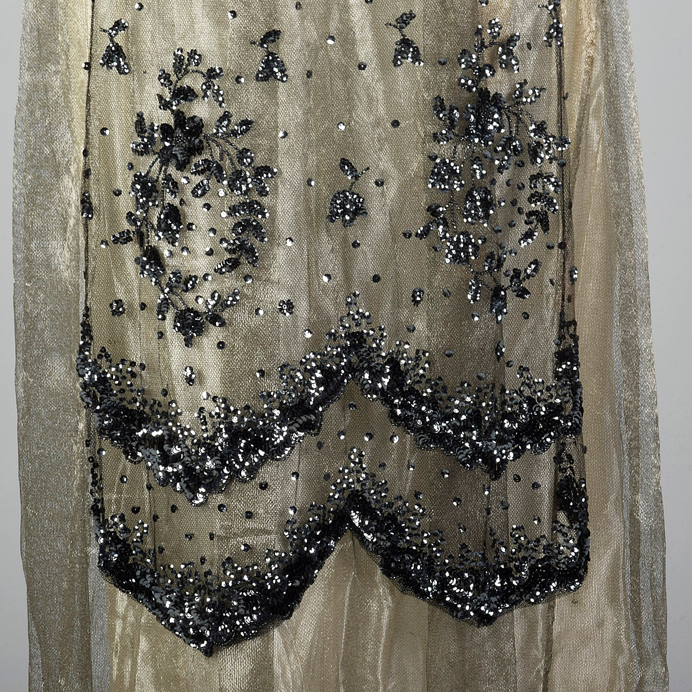 1910s Antique Belle Epoque Evening Dress