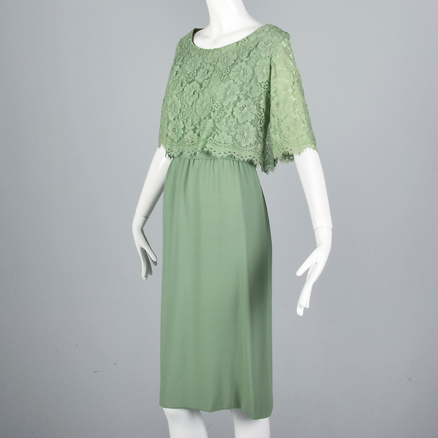 1960s Emma Domb Green Cocktail Dress