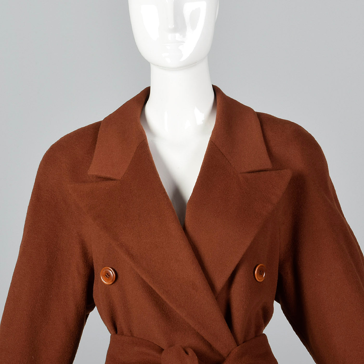 1980s Escada Luxurious Cashmere Trench Coat