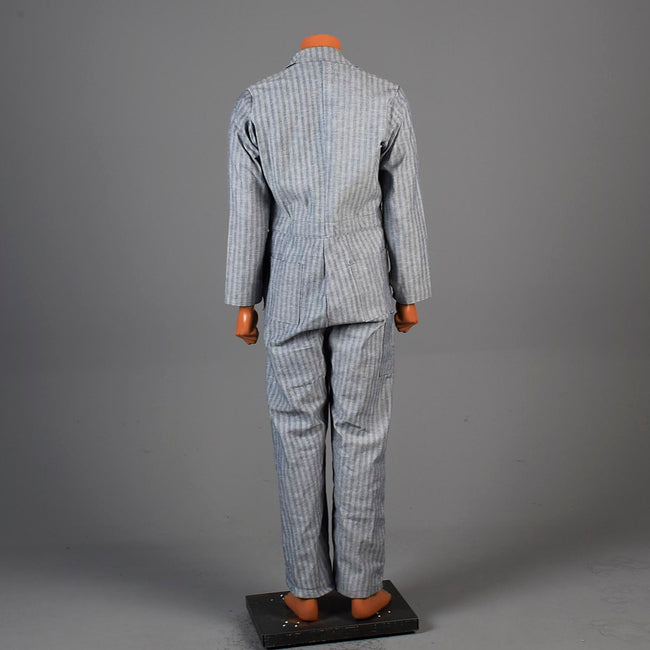 1960s Mens Deadstock Cotton Coveralls