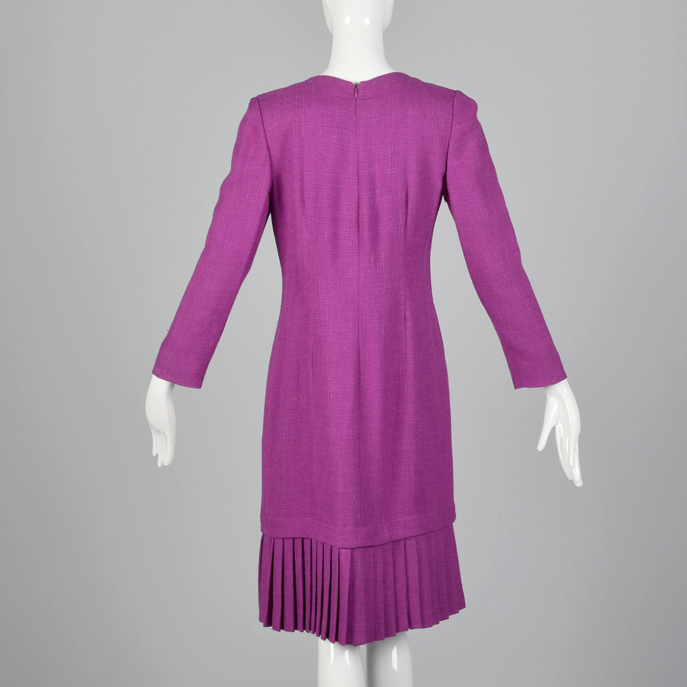 1980s Carolina Herrera Purple Dress