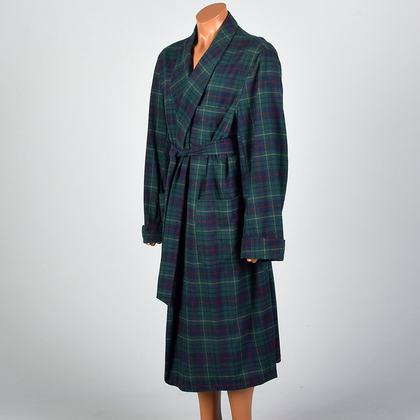 1990s Mens Pendleton Wool Plaid Robe