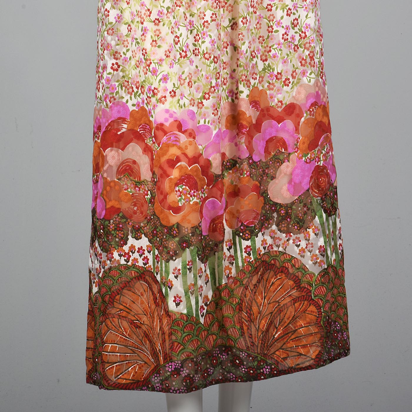 1970s Bohemian Harold Levine Silk Two Piece Separates Set