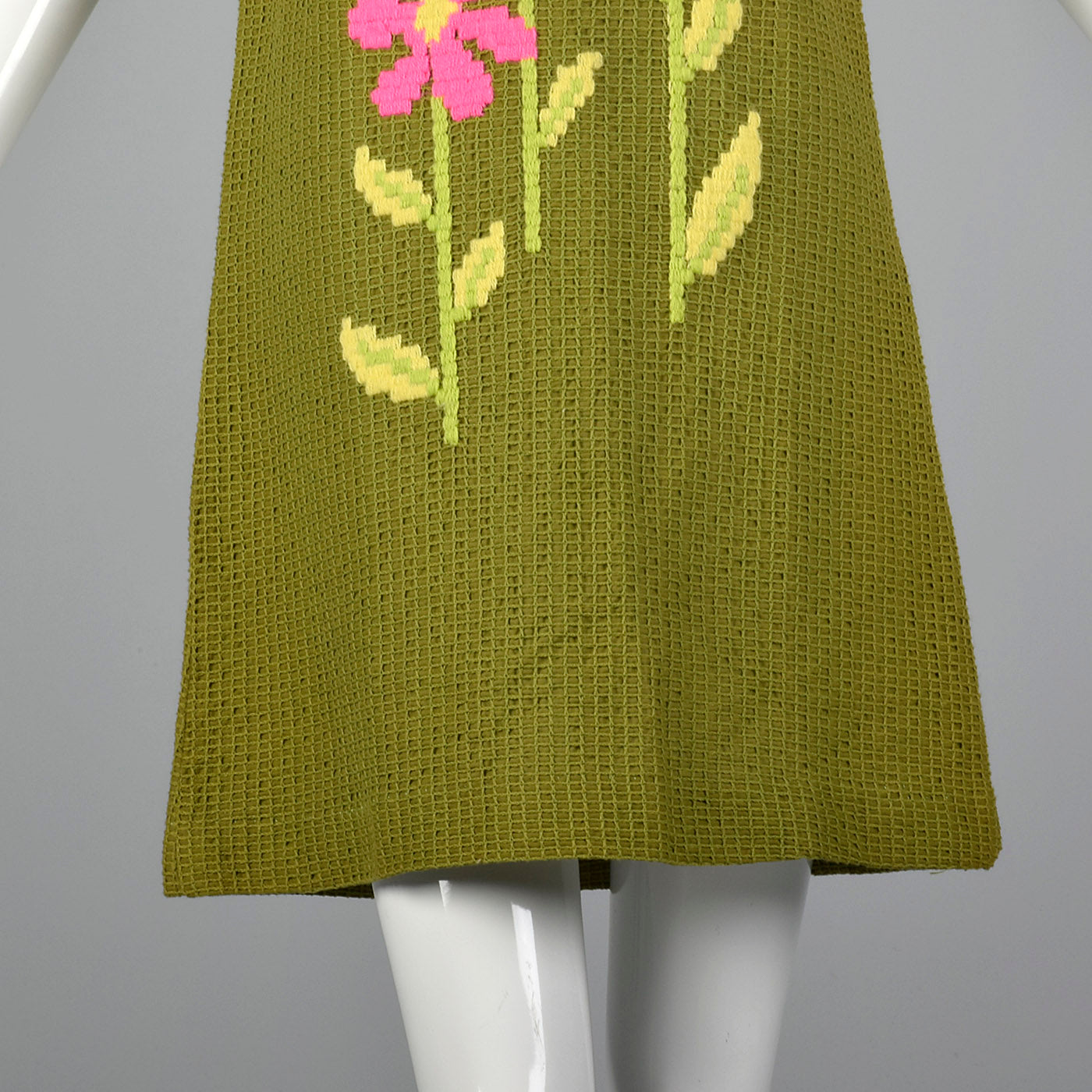 1960s Deadstock Shift Dress with Mesh-Style Overlay