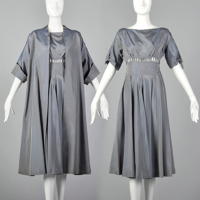XS 1950s Cage Waist Dress and Jacket