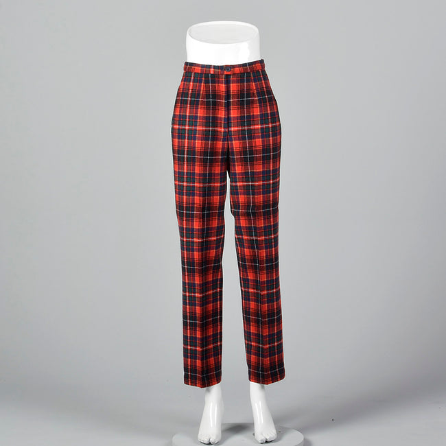 1970s Pendleton Wool Plaid Pants