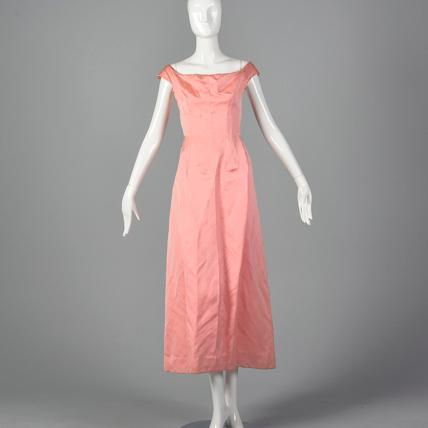 1960s Balenciaga Pink Evening Gown