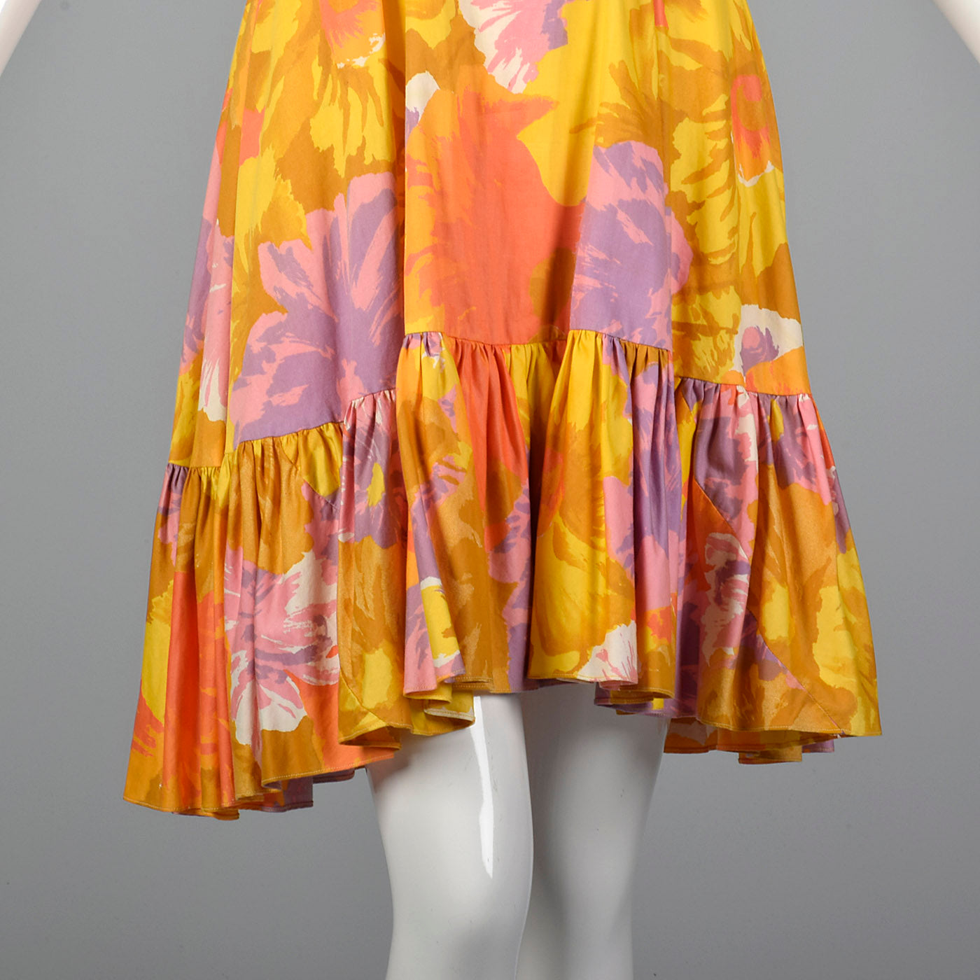 1960 Lilli Diamond Abstract Floral Print Dress