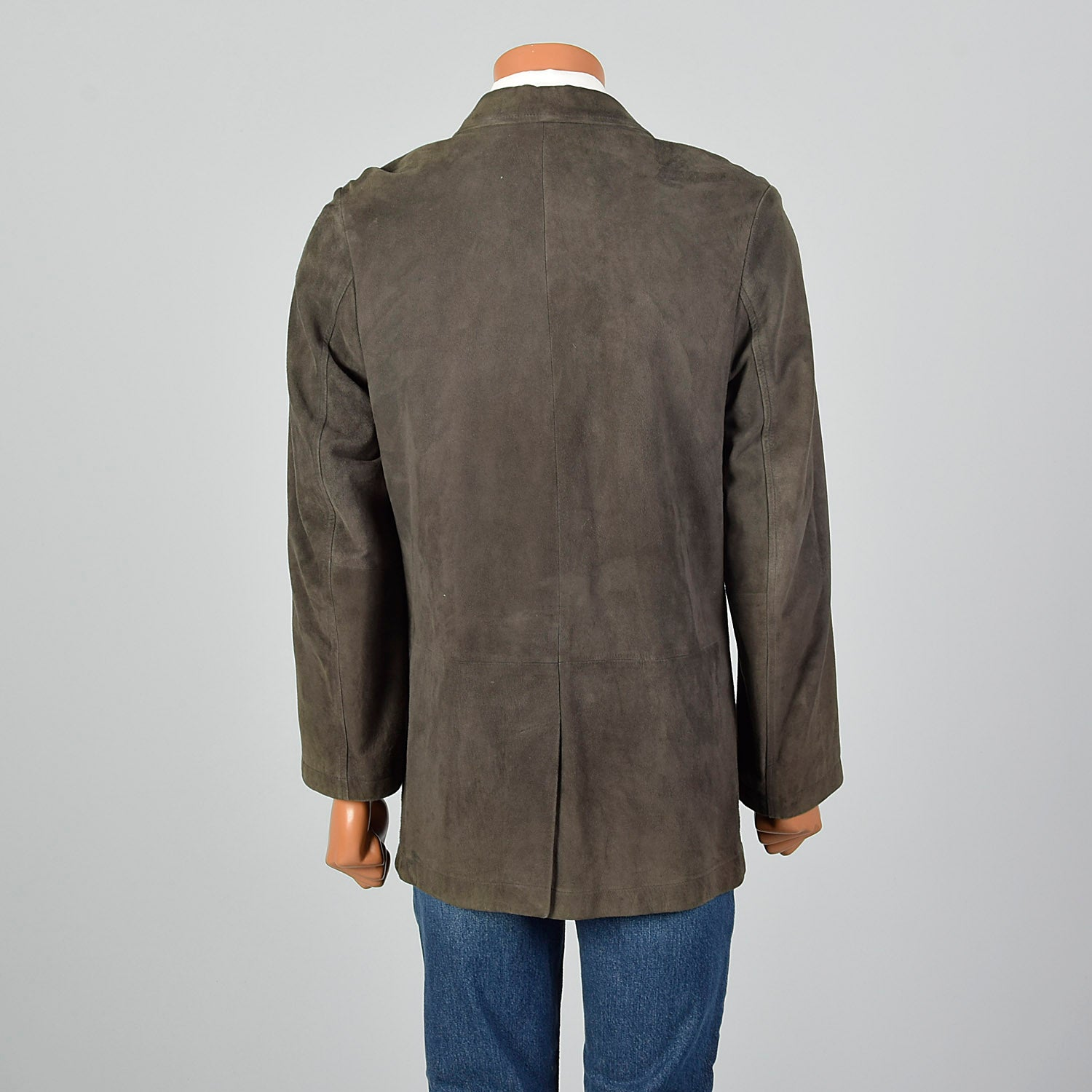 1980s Green Suede Jacket