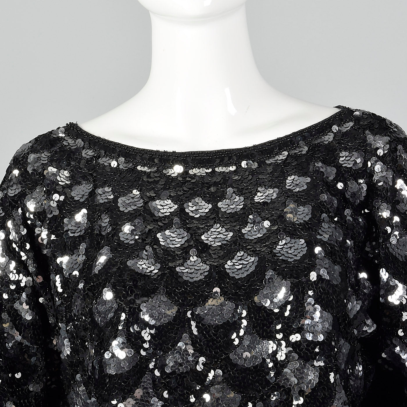 1960s Sequin Top with Scallop Design
