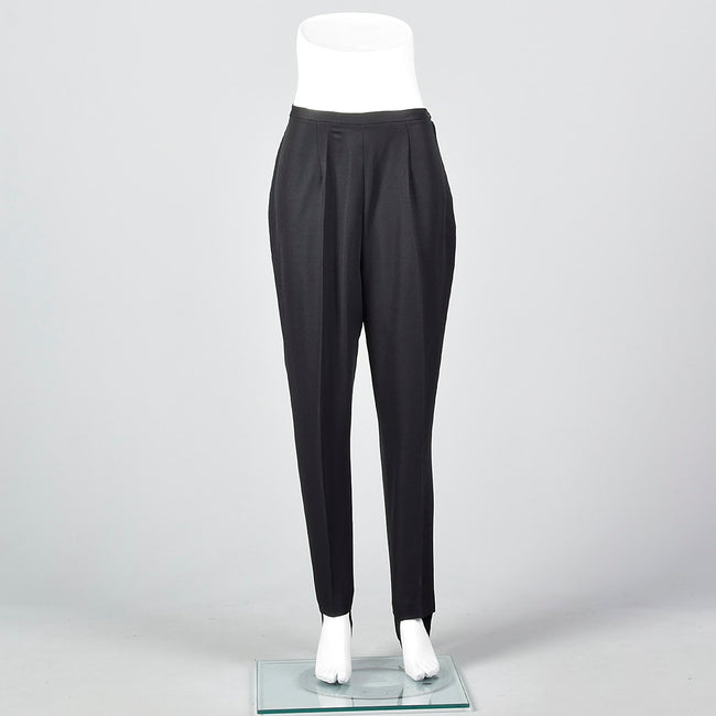 1960s Black Stirrup Pants