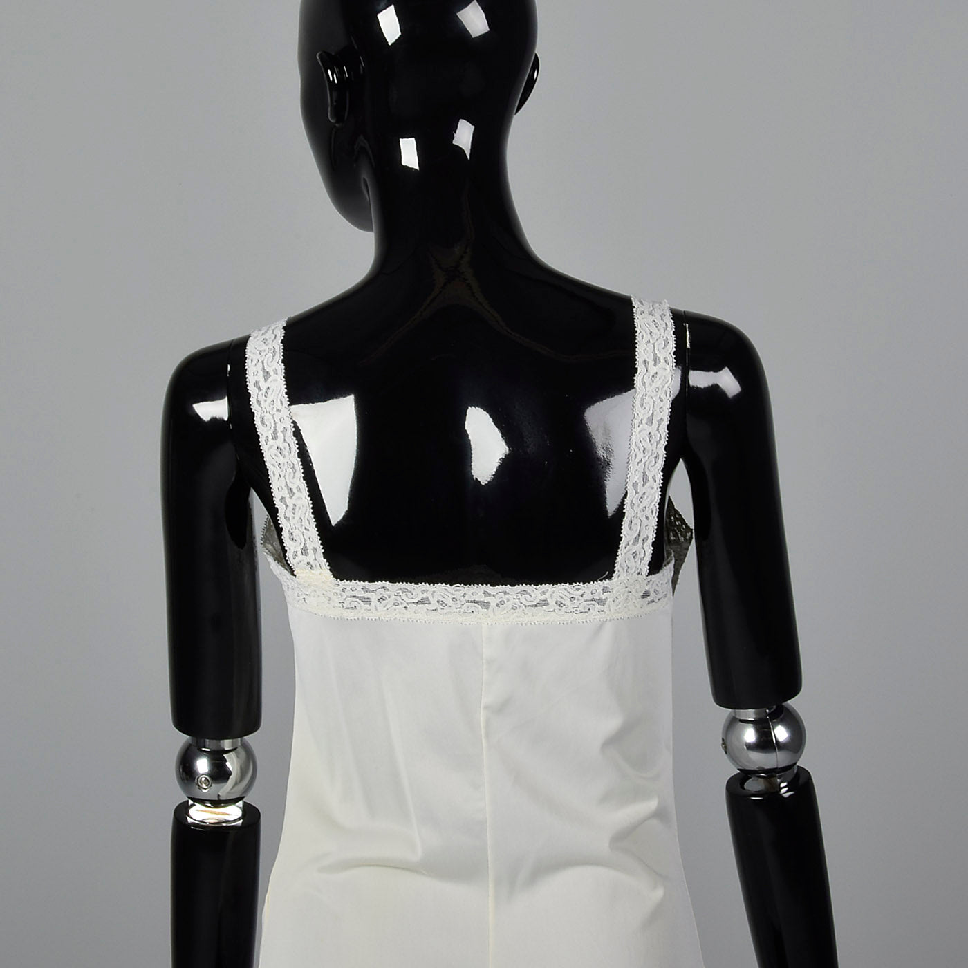 1970s Off White Camisole with Lace Trim
