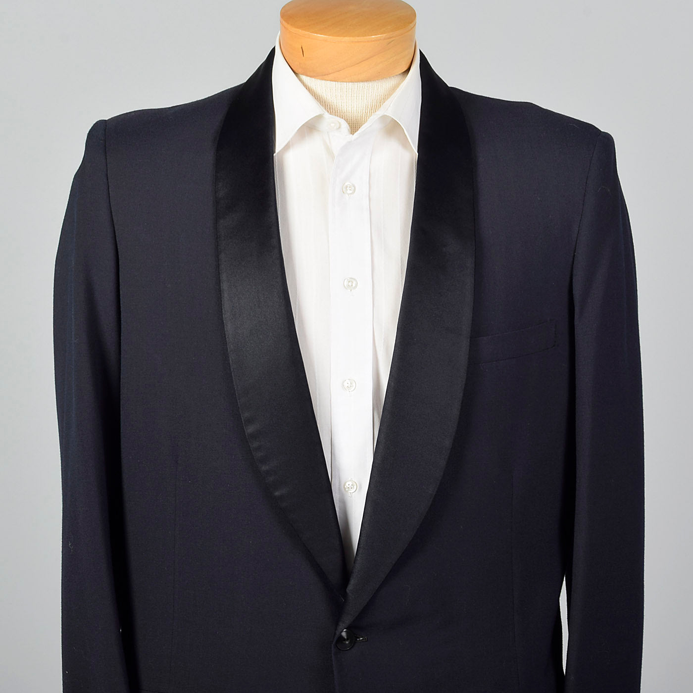 1950s Navy Shawl Collar Jacket