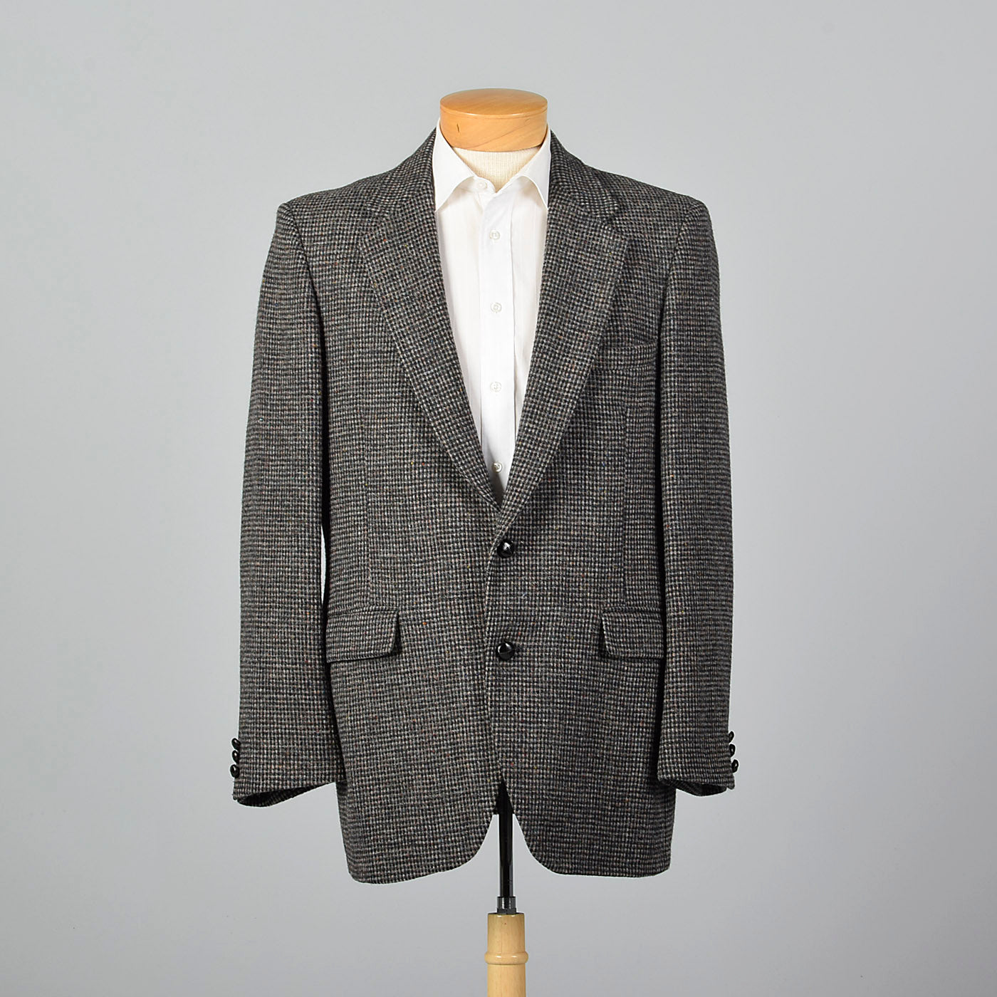1970s Harris Tweed Gray Jacket
