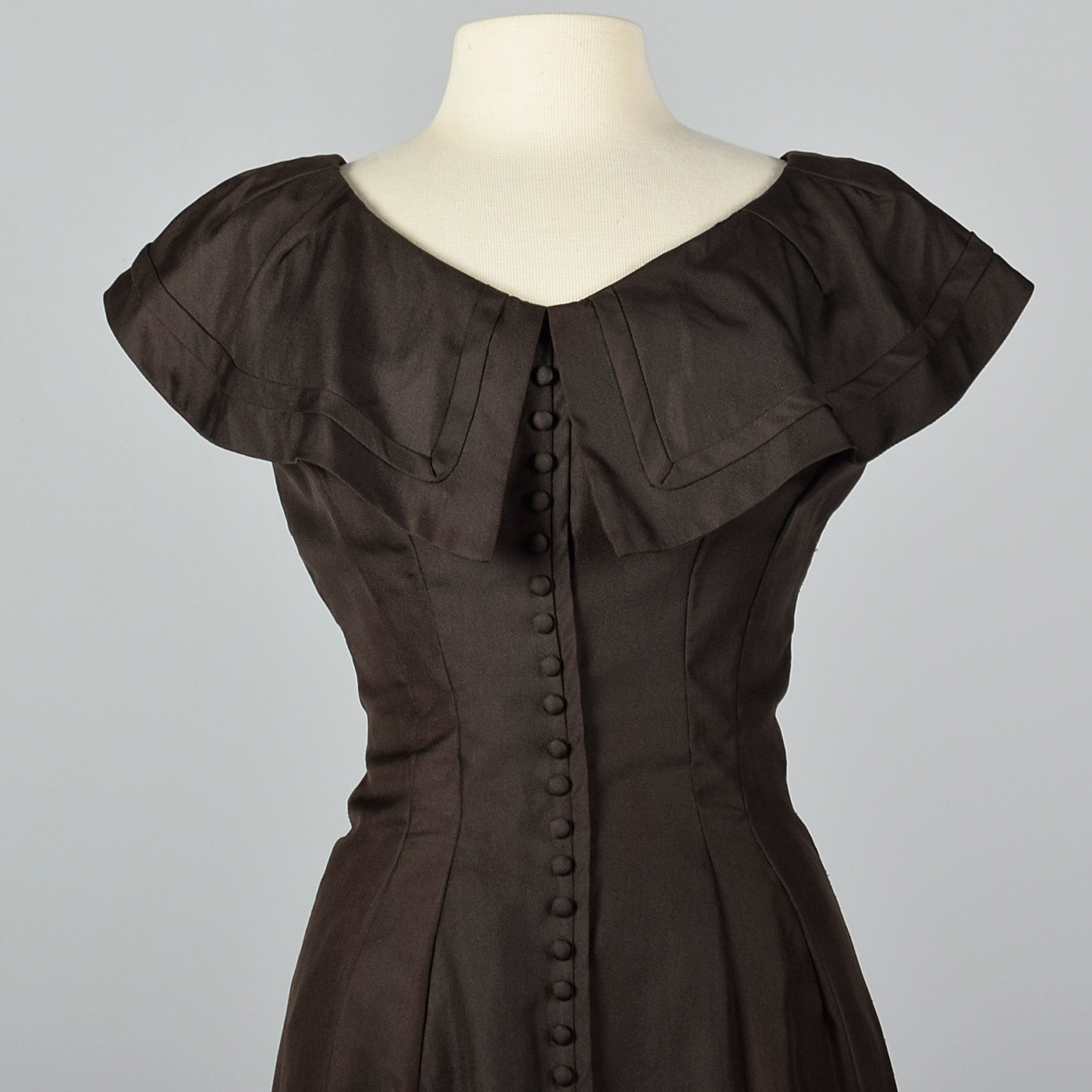 1950s Suzy Perette Dark Brown Wiggle Dress